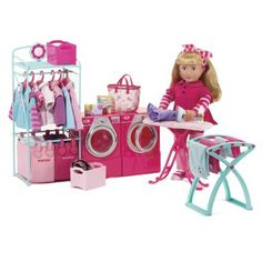 Our Generation Laundry Room Playset  Kwanzaa building AG dollhouse