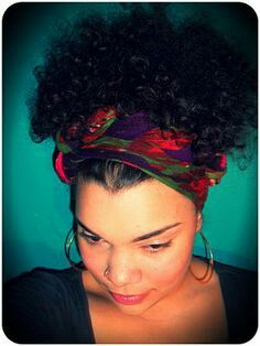 A Pop Of Color Scarf for Hairstyles.