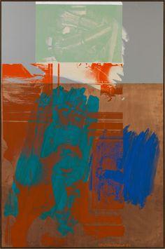 Robert Rauschenberg (American, 1925-2008), Aqua Fanfare (Urban Bourbon), 1993. Acrylic on copper and mirrored aluminum, 184.9 x 124 cm.via mentaltimetraveller