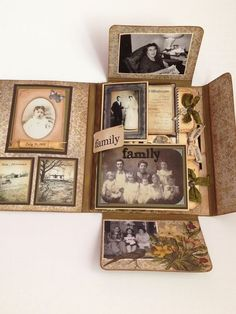 Paper Skies and Hazel Eyes: Collection Folio Challenge! Might make a nice heritage class project. Mini Albums Scrap, Mini Scrapbook Albums, Scrapbook Paper, Heritage Scrapbooking, Scrapbooking Layouts, Mini Album Tutorial, Diy Mini Album, Vintage Scrapbook, Album Book