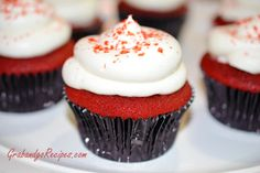 Red Velvet Cupcakes with Chocolate Ganache Filling. Silky red velvet cupcake, filled with Chocolate Ganache and then topped with a cream cheese frosting with the touch of rum.