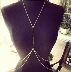 Gold Body Chain Body Piece Belly Chain Jewelry Harness Necklace, Simple Double Layer on Etsy, Body Chain Jewelry, Body Jewellery, Cute Jewelry, Jewelry Necklaces, Pearl Jewelry, Gold Fashion, Fashion Jewelry, Fashion Necklace, Body Chain Harness