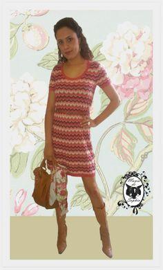 Para este Friozinho, Vestido de Tricô Stripes que já vem com esse cintinho fofo!