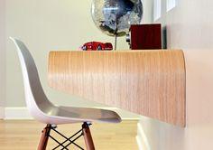 Minimal Float Wall Desk by Orange22 Lab