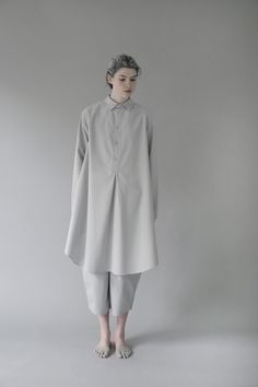 Egg | egg ivy shirt- garments that don't really fit traditional shirt/dress classification/ white on white