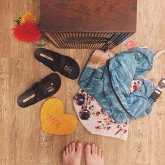 pés no chão  amor no coração  ❤️ #lojaamei #melissa #chinelo #verao #bolsa #maisamor