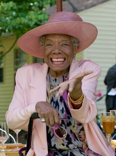 To enjoy meals, slow down and ignore the rules, says poet Maya Angelou. Here, she celebrates her 82nd birthday at her home in Winston-Salem,...