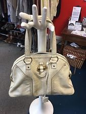 a0bf6d41f46 Yves Saint Laurent Cream Python Leather Muse Satchel ONE LISTING FINAL SALE