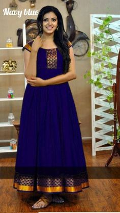 Shop Latest Gowns Style with price Online. Our fashion magazine personal shoppers help you get the stylish look for Family Parties & Functions. Blouse Designs Silk, Dress Neck Designs, Designer Blouse Patterns, Designer Dresses, Long Gown Dress, Sari Dress, Full Skirt Dress, Long Frock, Long Gowns