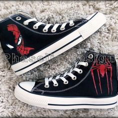 c8272d4927a236 Spider-Man Custom Converse   Painted Shoes Custom Converse