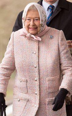 Queen Elizabeth II arrives to start her Christmas Break at Sandringham at King's Lynn Station