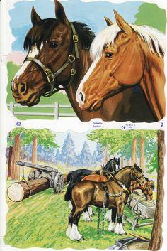 1534 Horse Clip Art, Horse Clipping, Die Cut Paper, Kids Scrapbook, Colour Images, Nostalgia, Childhood, Horses, Vintage