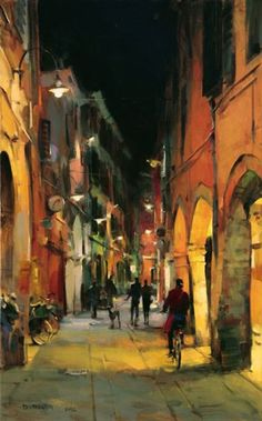 Venice Evening | Dmitri Danish [Дмитрий Даниш] 1966 | Tutt'Art@ | Pittura * Scultura * Poesia * Musica |