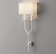 Antiqued Wishbone Sconce Rustic White