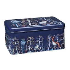 Taika tin box, blue, by Iittala.