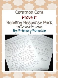 You can use these 5 reading response sheets to help your students practice proving what they think through textual evidence. FREE! :) #4thgrade #commoncore