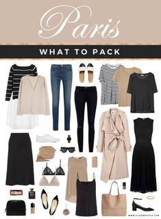 What to pack Paris - Flip and Style - Australian fashion, beauty and . Paris Outfits, Capsule Outfits, Fashion Capsule, Mode Outfits, Fashion Outfits, Womens Fashion, Fashion Beauty, Fashion Fashion, Paris Spring Outfit