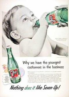 "Used to be named ""Bib-Label Lithiated Lemon-Lime Soda""! This soon got shortened to ""7Up Lithiated Lemon Soda,"" and then just ""7Up"" in 1936.   Because lithium is used as one of the most common treatments for bipolar disorder!     Charles Grigg, included the substance in the soda's formula because he thought it could be used as a selling point. He believed the naturally-occurring lithia found in underground springs that could be promoted as a mood regulator."