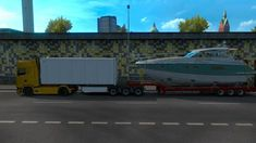 Low Bed Trailer Boat Mod For Multiplayer mod for mod adds hybrid Semi-trailers to the game. You can buy Semi-trailer. You can play in multiplayer mode with this trailer. Semi Trailer, Single Player, Boat, Games, Dinghy, Boats, Gaming, Plays, Game