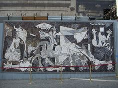 I came upon this mosaic mural in a piazza in Rome when visiting that city in 2006.