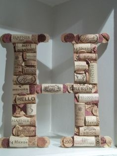 """H"", especially I ally like the cork that says, ""hello"""