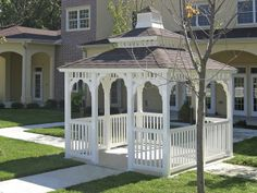 Vinyl Rectangle Gazebo with Pagoda Roof and Cupola http://www.backyardunlimited.com/gazebos... tons of gazebo styles here :)