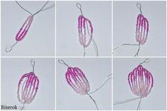 Tutorial para aprender cómo hacer flores con chaquira