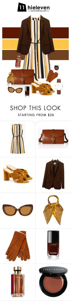 """Sweet Chestnut"" by hielevencom ❤ liked on Polyvore featuring Chico's, Rollie, Loeffler Randall, Hermès, Salvatore Ferragamo, Restelli, Chanel, Prada, Bobbi Brown Cosmetics and Daniel Wellington"