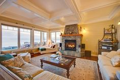 Clinton Vacation Rental - VRBO 338160 - 5 BR Whidbey Island House in WA, Gorgeous Luxury Cape Cod on Low Bank Sandy Beach, Sleeps up to 12