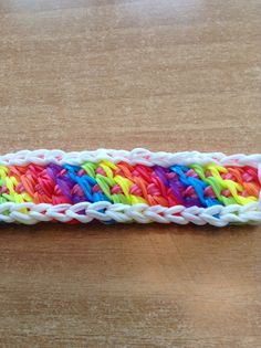 rainbow loom interweaved lock bracelet