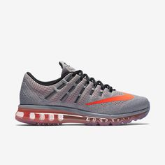 Nike Air Max 2016 Mens Running Shoes 9.5 Wolf Grey Crimson Black 806771 018 #Nike #RunningCrossTraining