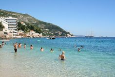Blue water at Banje Beach Club | Dubrovnik, Croatia
