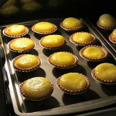 Easy Hong Kong Style Egg Tarts Recipe Desserts with water, white sugar, eggs, evaporated milk, tart shells