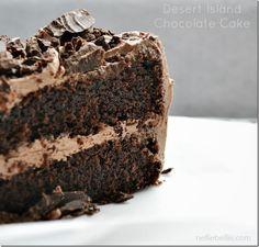 Desert Island Chocolate Cake: a NellieBellie recipe. a chocolate cake recipe from scratch