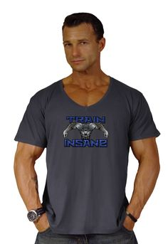 Crazee Wear Charcoal V-Neck Train Insane Style 680V-Neck (xxl). Buy Factory Direct And Save. summer cool,light weight. (5 Ounce)100%cotton,Pre-washed. (no Shrinkage)Garment Died. Relaxed Fit V-Neck.