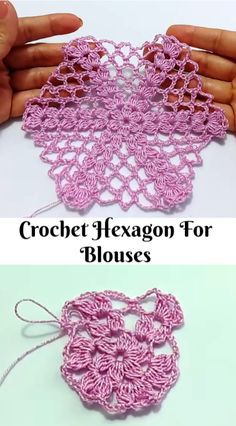 crochet hexagon for blouses
