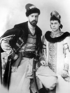 Their Imperial Highnesses Grand Duke Alexander Mikhailovich and Grand Duchess Xenia Alexandrovna of Russia. Married: August 6, 1894