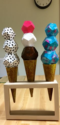 My Wayne Thiebaud inspired volumetric assemblage.  Bristol board, tissue paper and mod podge.
