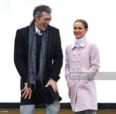 Vincent Cassel and Natalie Portman film on location for 'Black Swan' on the streets of Manhattan on December 7, 2009 in New York City.