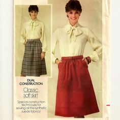 A Classic A Line Skirt Pattern for Women