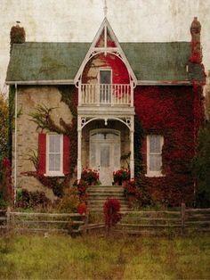 abandoned Peeling Paint On Old Farm House