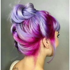 { This purple ombre hair color is amazing - ✧ Hair ✧ - Hair Color Hair Color Purple, Hair Dye Colors, Cool Hair Color, Purple Ombre, Purple Balayage, Pastel Purple, Purple Highlights, Dark Purple, Rainbow Highlights