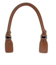 Asa para bolso de cuero redonda con hevillas rectangulares 52cm marrón: Catálogo de Planas & Linares