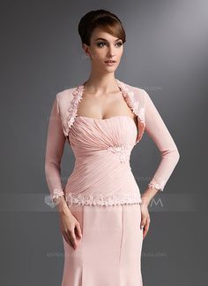 [US$ 49.99] 3/4-Length Sleeve Chiffon Special Occasion Wrap (013018677)