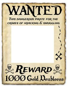 Wanted Pirate Printable Sign 16 x 20 photo prop by KatieandLaLa Pirate party Pirate Halloween, Pirate Day, Pirate Birthday, Pirate Theme, Pirate Party Games, Pirate Photo Booth, Deco Pirate, Decoration Pirate, Invitation Fete