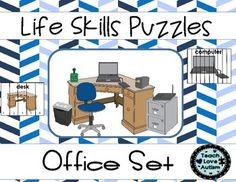 In this set you will find puzzles with different amounts of pieces to work for different learners in your classroom. Check the preview above to see all 5 differentiated levels!  Each puzzle is a different item that would be located in a office. This will help students not only work on problem solving skills but, work on learning vocabulary and identifying that vocabulary in a different way.