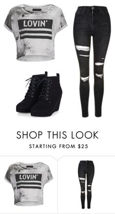 """""""Simple"""" by jenna19monzela ❤ liked on Polyvore featuring Religion Clothing and Topshop"""