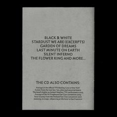 The Flower Kings – The Red Flower (proposal) - Fonts In Use