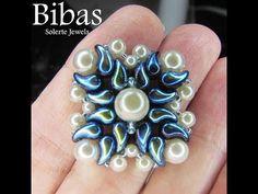 Tutorial modulo Bibas con perline  Zoliduo e perle - YouTube