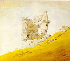 """The Ruins of Teplitz Castle"" Caspar David Friedrich"